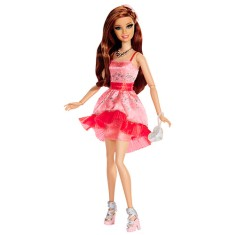 Boneca Barbie Fashion and Beauty Style Festa Teresa Mattel