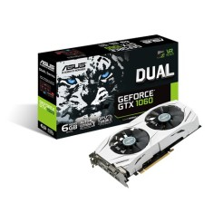 Placa de Video NVIDIA GeForce GTX 1060 6 GB GDDR5 192 Bits Asus DUAL-GTX1060-6G