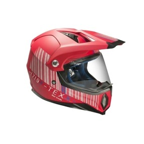 Capacete Texx Bar Code Mod: MX Off-Road com viseira Viseira Antirrisco