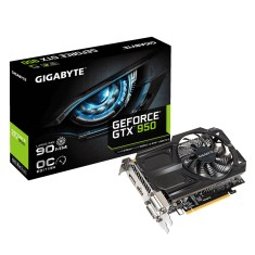 Placa de Video NVIDIA GeForce GTX 950 2 GB GDDR5 128 Bits Gigabyte GV-N950OC-2GD