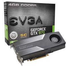 Placa de Video NVIDIA GeForce GTX 970 4 GB GDDR5 256 Bits EVGA 04G-P4-1972-KR