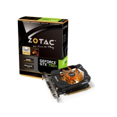 Placa de Video NVIDIA GeForce GTX 750 Ti 1 GB GDDR5 128 Bits Zotac ZT-70601-10M