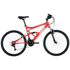 Bicicleta Mountain Bike Mongoose 21 Marchas Aro 26 Suspensão Full Suspension Freio V-Brake Full Edge