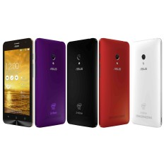 Smartphone Asus Zenfone 5 8GB A501CG 1GB RAM 8,0 MP 2 Chips Android 4.3 (Jelly Bean) 3G Wi-Fi