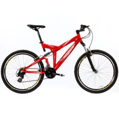 Bicicleta Mountain Bike Track & Bikes 21 Marchas Aro 26 Suspensão Full Suspension Freio V-Brake TK Full 5.0