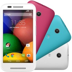 Smartphone Motorola Moto E E DTV Colors Edition TV Digital 4GB XT1025 5,0 MP 2 Chips Android 4.4 (Kit Kat) Wi-Fi 3G