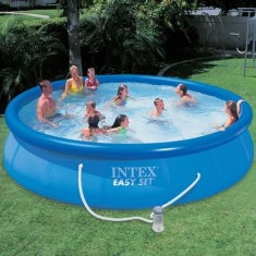 Piscina infl vel l redonda intex 28162 comparar for Alberca intex redonda