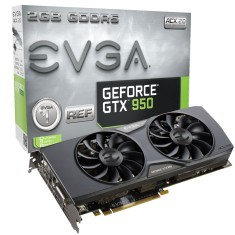 Placa de Video NVIDIA GeForce GTX 950 2 GB GDDR5 128 Bits EVGA 02G-P4-1955-KR