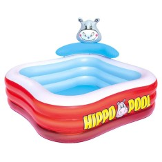 Piscina Inflável 511 l Quadrada Bestway Play Center Hipopótamo