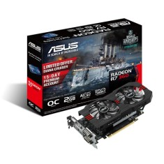 Placa de Video ATI Radeon R7 360 2 GB GDDR5 128 Bits Asus R7360-OC-2GD5