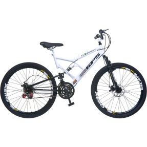 Bicicleta Mountain Bike Colli Bikes 18 Marchas Aro 26 Suspensão Full Suspension Freio a Disco GPS 220