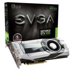 Placa de Video NVIDIA GeForce GTX 1080 8 GB GDDR5X 256 Bits EVGA 08G-P4-6180-KR