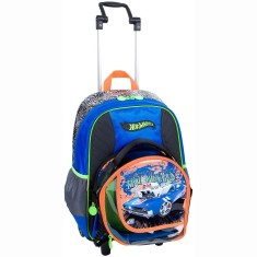 Mochila com Rodinhas Escolar Sestini Hot Wheels Hot Wheels 16Z G 64144