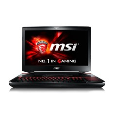 "Notebook MSI Gamer Intel Core i7 6820HK 6ª Geração 16GB de RAM HD 1 TB SSD 128 GB 18,4"" GeForce GTX 970M Windows 10 GT80S 6QD Titan SLI"