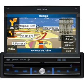 "DVD Player Automotivo Pósitron 7 "" SP6900 AV Touchscreen Bluetooth"