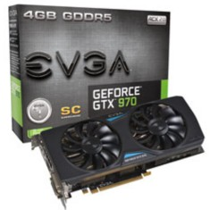 Placa de Video NVIDIA GeForce GTX 970 4 GB GDDR5 256 Bits EVGA 04G-P4-2977-KR