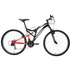 Bicicleta Mountain Bike Oxer 21 Marchas Aro 26 Suspensão Full Suspension Freio V-Brake Fs100