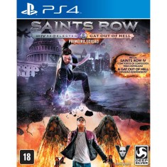 Jogo Saints Row IV Re-elected + Gat Out of Hell PS4 Deep Silver