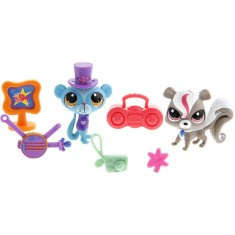 Boneca Littlest Pet Shop Cenário ShowTime Friends A1351/A6268 Hasbro