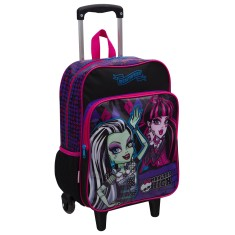 Mochila com Rodinhas Escolar Sestini Monster High 15M Plus G
