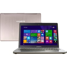 "Ultrabook Gigabyte Gamer U Intel Core i5 4200U 4ª Geração 8GB de RAM HD 750 GB SSD 128 GB 14"" GeForce GT 750M Windows 8.1 U24F"
