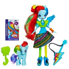 Boneca My Little Pony Equestria Girl Hasbro Rainbow Rocks Rainbow Dash A6871 Hasbro