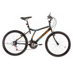 Bicicleta Houston 21 Marchas Aro 24 Freio V-Brake Atlantis Land 2015