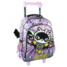 Mochila com Rodinhas Escolar Pacific Hello Kitty Comics Bat Girl G 964B01