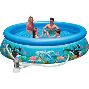 Piscina Inflável 5.600 l Redonda Intex Easy Set Oceano