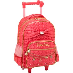 Mochila com Rodinhas Escolar PCF Global Hello Kitty Sparkling 924Q02C